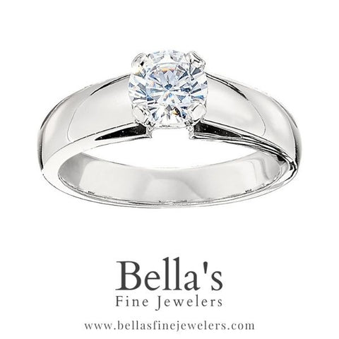 Wide solitaire, Cathedral Solitaire Engagement Rings