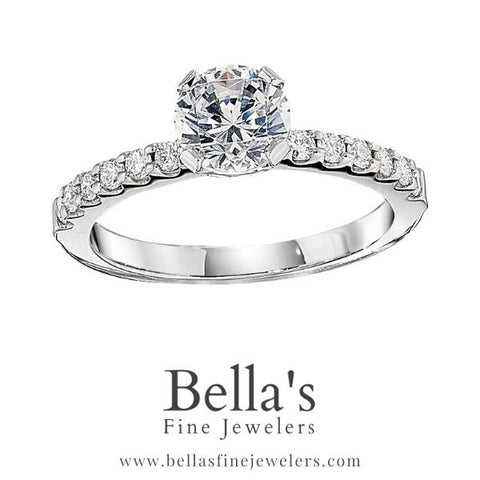 engagement ring with diamond bands, narrow diamond engagement rings