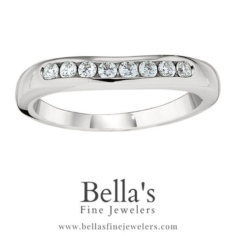 simple curved diamond wedding bands, simple curved diamond wedding rings, curved diamond wedding bands, channel diamond bands, curved channel diamond rings