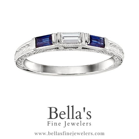 Examples of Vintage Sapphire Wedding Bands