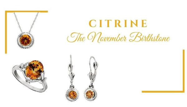 What is the November birthstone, what birthstone is Citrine, Citrine Jewelry, Unique birthstone jewelry