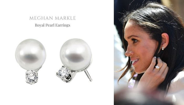 Meghan Markle's pearl earrings, Meghan Markle jewelry, Did the queen give Meghan pearls