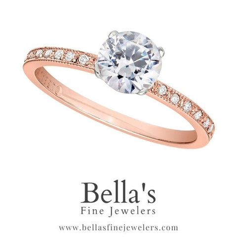 pink gold engagement rings, rose gold engagement rings