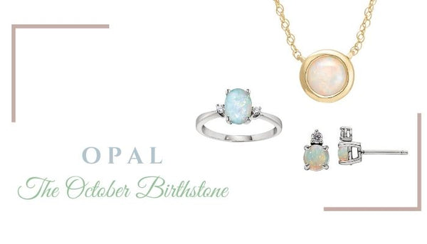 What is the October birthstone, What birthstone is Opal, Unique Opal Jewelry, Unique Birthstone Jewelry in Opal