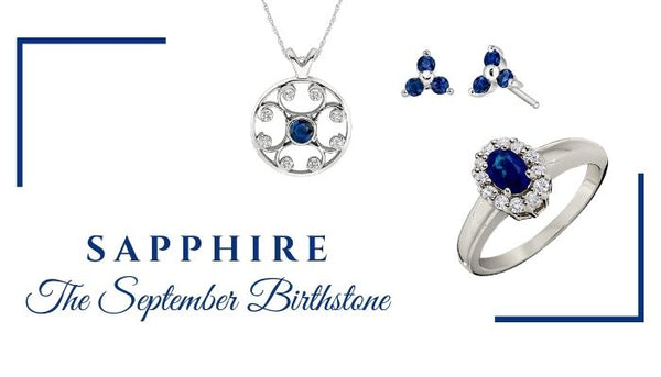 What is the September birthstone, What birthstone is Sapphire, Unique birthstone jewelry, Sapphire jewelry, Sapphire rings, Sapphire Earrings, Sapphire Pendants