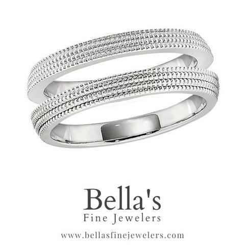 Ring guard two wedding band look with coin edge