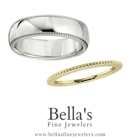 all gold simple matching wedding rings, plain matching wedding bands