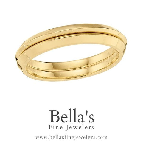 Plain gold ring guards for two wedding band trend