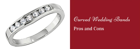 curved wedding bands pros and cons