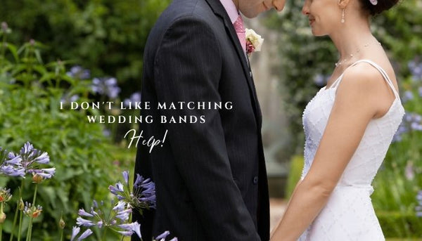 Alternatives to matching wedding bands, how to select a wedding band, non matching wedding rings