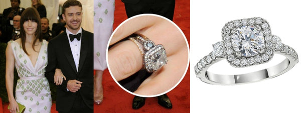 Jessica Biel's Engagement Ring, celebrity engagement rings