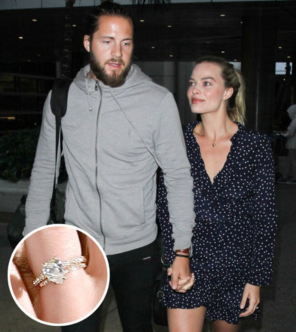 Margot Robbie Wedding Band, Celebrity Wedding Rings, How To Plan A celebrity Wedding, Non Matching Wedding Bands and Celebrities