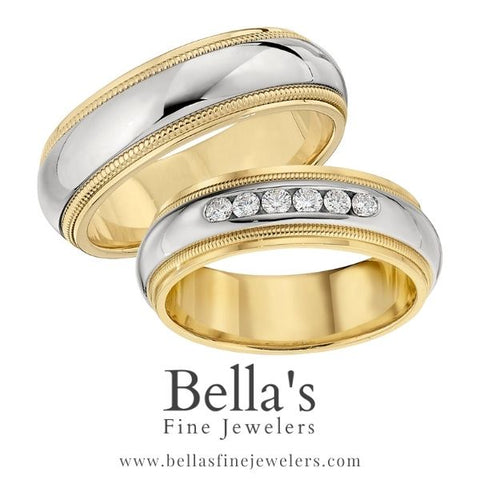 Matching Wedding Bands with and without diamonds, ideas for matching wedding bands, wedding ring sets