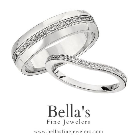 matching wedding band with curved wedding ring, his and her wedding sets, her and her matching wedding band sets, his and his matching wedding band sets