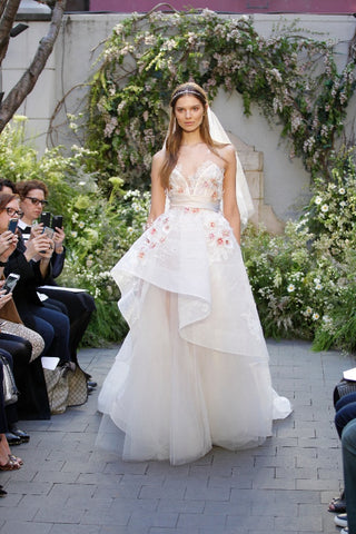 floral wedding dresses of 2017