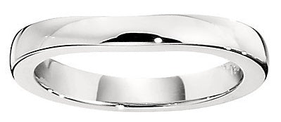 plain curved wedding bands