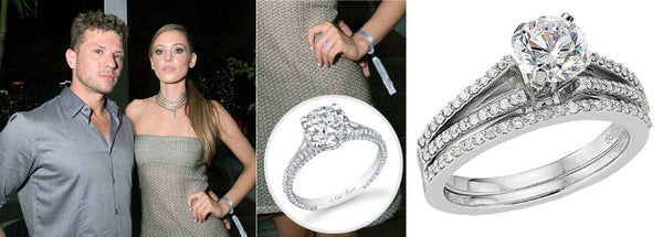Celebrity Engagement Ring, Paulina Slagter's engagement ring