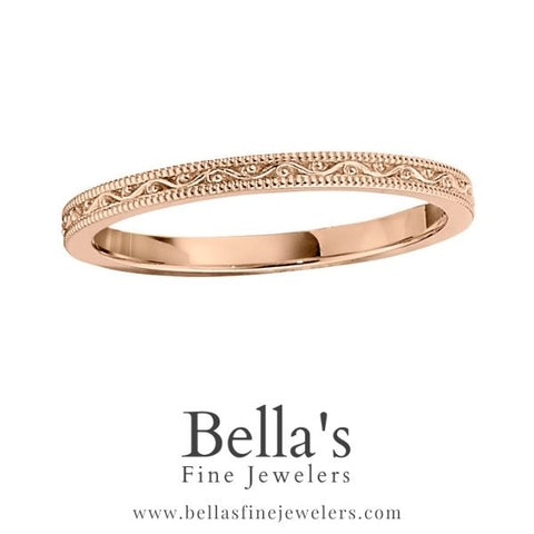 all gold vintage engraved wedding ring