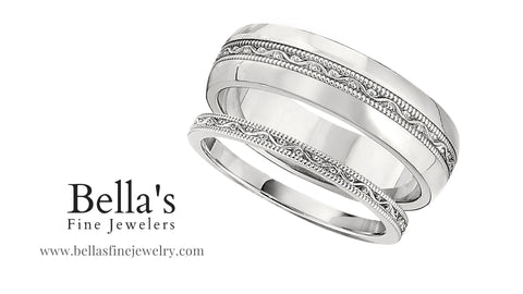 matching wedding bands, set of matching wedding rings, unisex wedding ring sets
