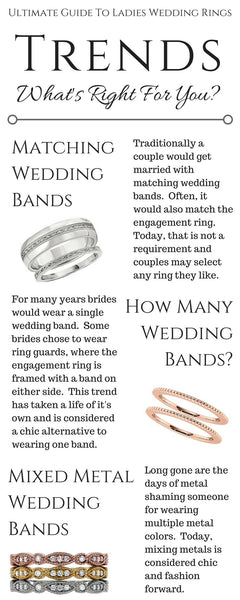 Guide To Wedding Bands, Wedding Band Trends, Two Wedding Bands, Ring Guards, Stackable Wedding Bands