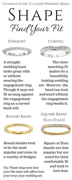 Guide To Wedding Rings_Curved Wedding Bands, Straight Wedding Bands, Wedding Band Options