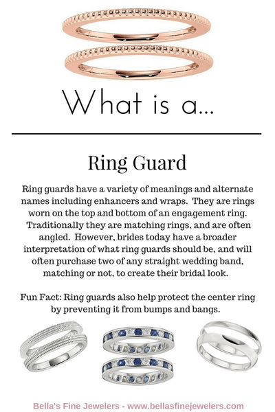 What is a ring guard, shadow bands, double wedding band, two wedding rings
