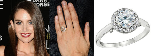 Celebrity Halo Engagement Engagement Rings