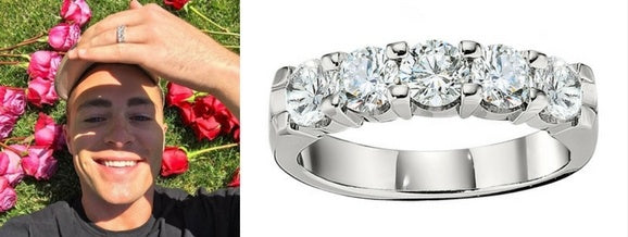 Colton Hayes Engagement Ring, Celebrity Engagement Rings