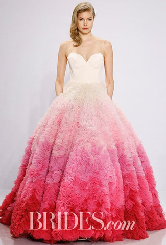 pink ombre wedding dresses