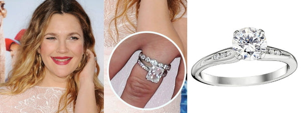 Drew Barrymore's engagement ring, celebrity engagement rings