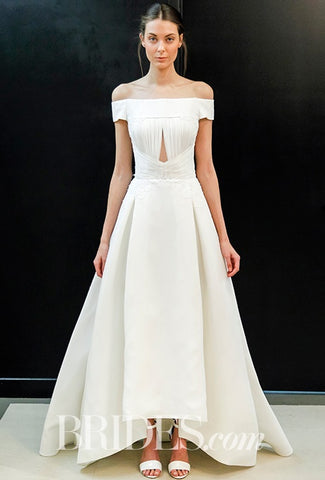ruched wedding dresses 2017