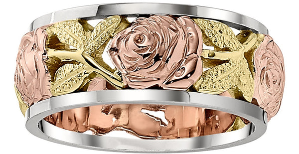 rose wedding rings