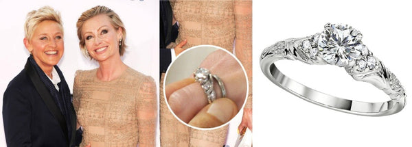 Celebrity Engagement Ring, Portia De Rossi's Engagement Ring