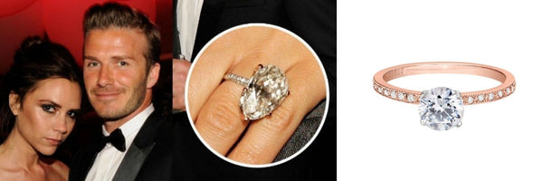Celebrity Engagement Ring, Victoria Beckham's Engagement Ring
