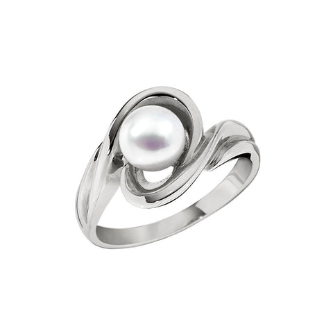 Heavy Pearl Twist Ring