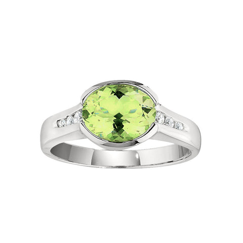August Birthstone, Peridot Modern Ring