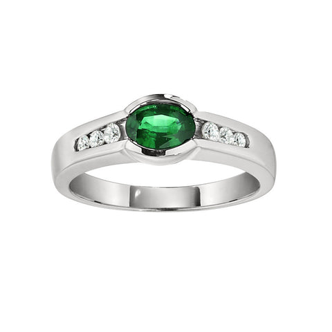 May Birthstone Jewelry, May Birthstone Ring, Modern Emerald Ring, Unique Emerald Rings, East by West Emerald Rings