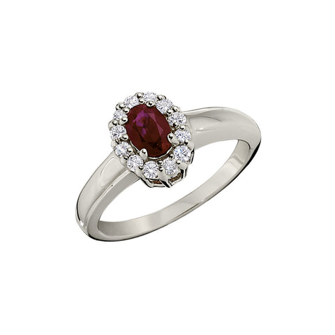 Halo Ruby and Diamond Rings