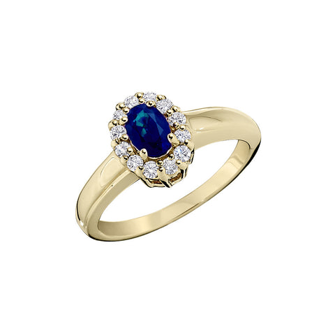 September Birthstone, Halo Sapphire and Diamond Rings