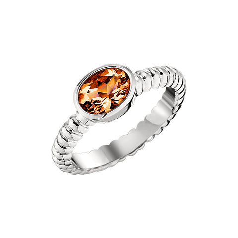 November Birthstone, Citrine Vintage Style Ring Settings