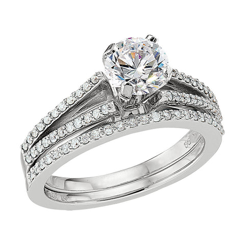 Split Shank Engagement Rings, Diamond Band Engagement Rings