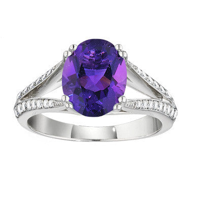 amethyst ring, amethyst jewelry, gemstone rings, made in USA jewelry, engel brothers