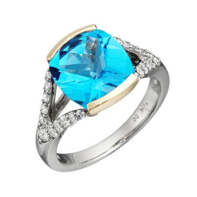 contemporary ring, modern ring, unique rings, blue topaz ring, blue topaz jewelry