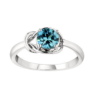contemporary ring, modern ring, unique rings, blue zircon ring, blue zircon jewelry