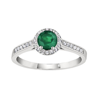 may birthstone, emerald birthstone, halo ring, gemstone halo ring, fancy gemstone ring, emerald ring