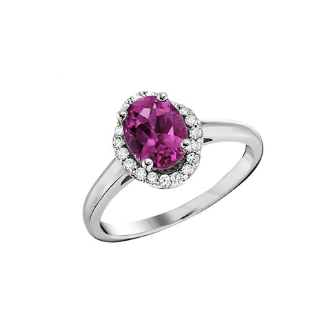 vintage style pink tourmaline ring, unique october birthstone jewelry