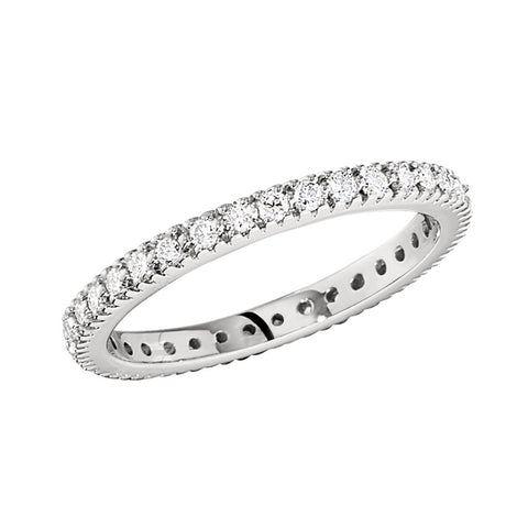 common prong diamond eternity bands