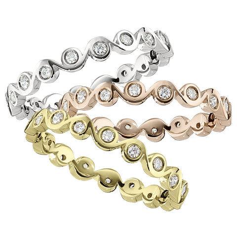 stackable rings, diamond eternity bands, stackable wedding bands