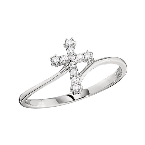 diamond cross ring, white gold cross ring, diamond cross jewelry