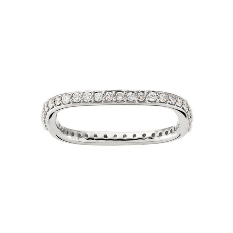 Square Shaped Common Prong Wedding Band